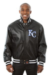 Kansas City Royals Full Leather Jacket - Black