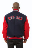 Boston Red Sox Embroidered Wool Jacket - Navy/Red