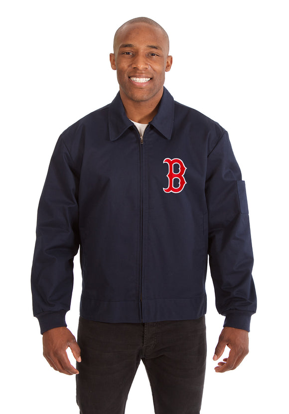 Boston Red Sox Cotton Twill Workwear Jacket - Navy
