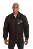 San Jose Sharks Cotton Twill Workwear Jacket - Black - JH Design