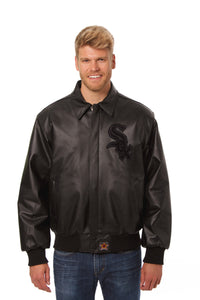 Chicago White Sox Full Leather Jacket - Black/Black