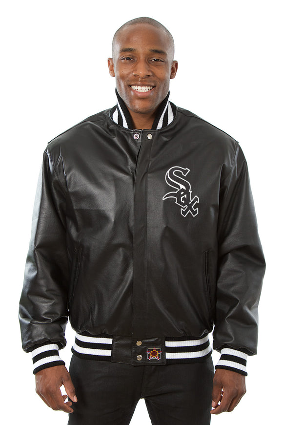 Chicago White Sox Full Leather Jacket - Black
