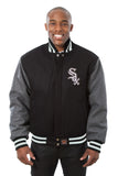 Chicago White Sox Embroidered Wool Jacket - Black/Charcoal - JH Design