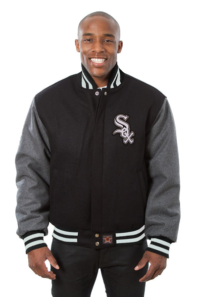 Chicago White Sox Embroidered Wool Jacket - Black/Charcoal