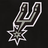 San Antonio Spurs Reversible Wool Jacket - Black - JH Design