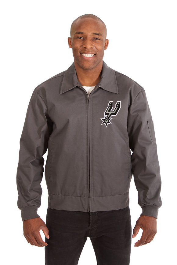 San Antonio Spurs Cotton Twill Workwear Jacket - Charcoal