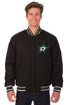 Dallas Stars Reversible Wool Jacket - Black