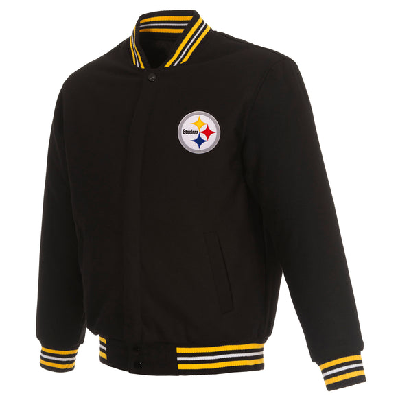 Pittsburgh Steelers Reversible Wool Jacket - Black