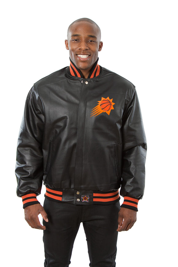Phoenix Suns Full Leather Jacket - Black - JH Design