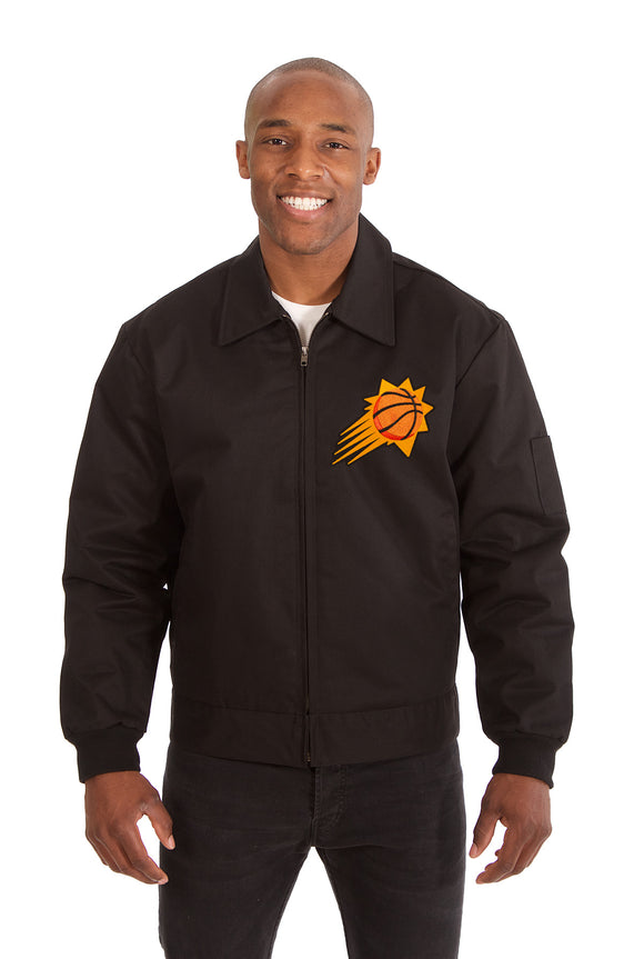 Phoenix Suns Cotton Twill Workwear Jacket - Black - JH Design