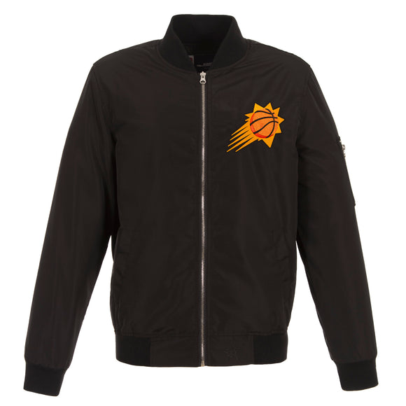 Phoenix Suns JH Design Lightweight Nylon Bomber Jacket – Black - JH Design