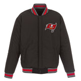 Tampa Bay Buccaneers JH Design Wool Reversible Full-Snap Jacket – Black - JH Design