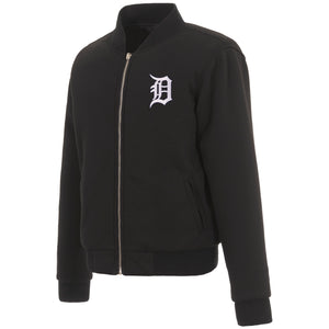 Detroit Tigers JH Design Reversible Women Fleece Jacket - Black - JH Design