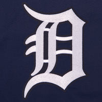 Detroit Tigers Two-Tone Reversible Fleece Hooded Jacket - Gray/Navy