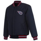 Tennessee Titans Reversible Wool Jacket - Navy