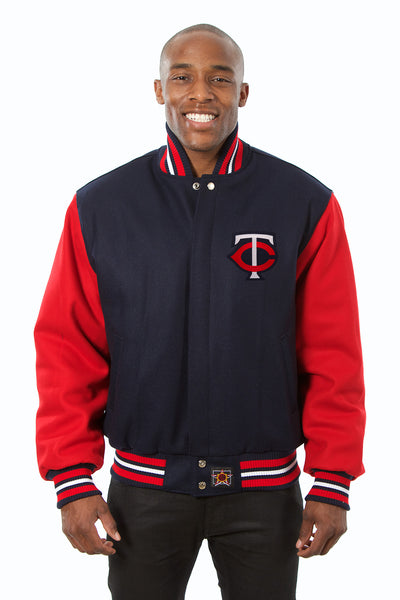 Minnesota Twins Embroidered Wool Jacket - Navy/Red