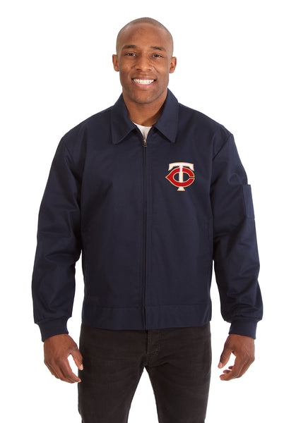 Minnesota Twins Cotton Twill Workwear Jacket - Navy