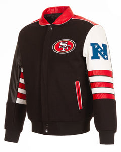 San Francisco 49ers JH Design Wool & Leather - Black - JH Design