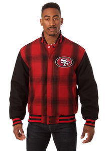 San Francisco 49ers JH Design Wool Jacket - Black - JH Design