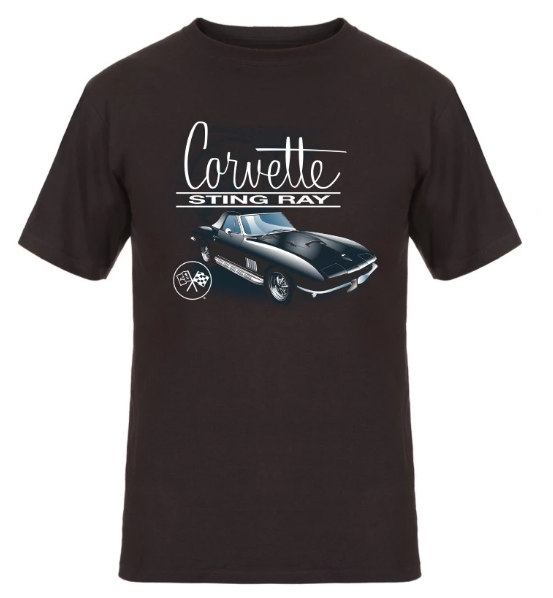 Corvette Stingray T-Shirt - Black - JH Design