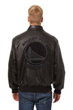 Golden State Warriors Full Leather Jacket - Black/Black - JH Design