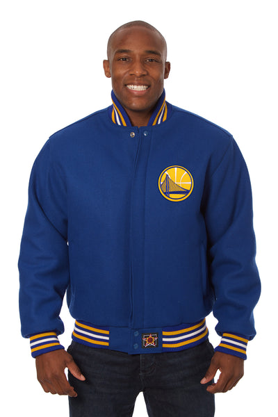 Golden State Warriors Embroidered Wool Jacket - Royal