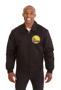 Golden State Warriors Cotton Twill Workwear Jacket - Black