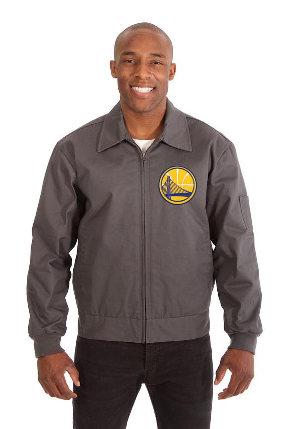 Golden State Warriors Cotton Twill Workwear Jacket - Charcoal - JH Design