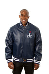 Washington Wizards Full Leather Jacket - Navy