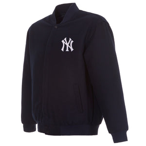 New York Yankees Reversible Wool Jacket - Navy - J.H. Sports Jackets