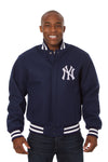 New York Yankees Embroidered Wool Jacket - Navy