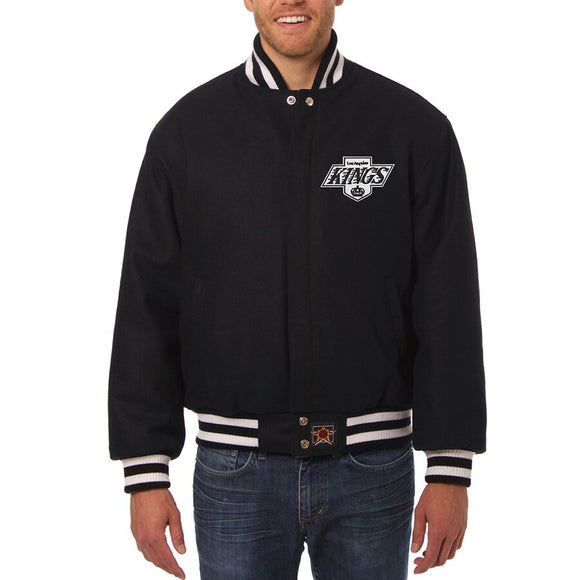 Los Angeles Kings Embroidered  All Wool Jacket - Black - JH Design