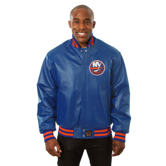 New York Islanders Full Leather Jacket - Royal - JH Design