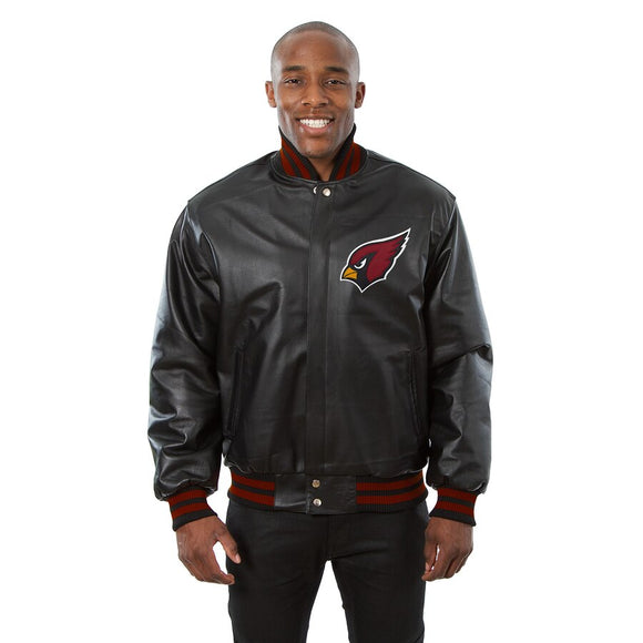 Arizona Cardinals JH Design Leather Jacket - Black - JH Design