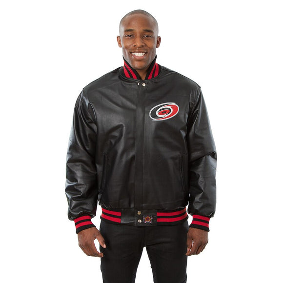 Carolina Hurricanes Full Leather Jacket - Black - JH Design