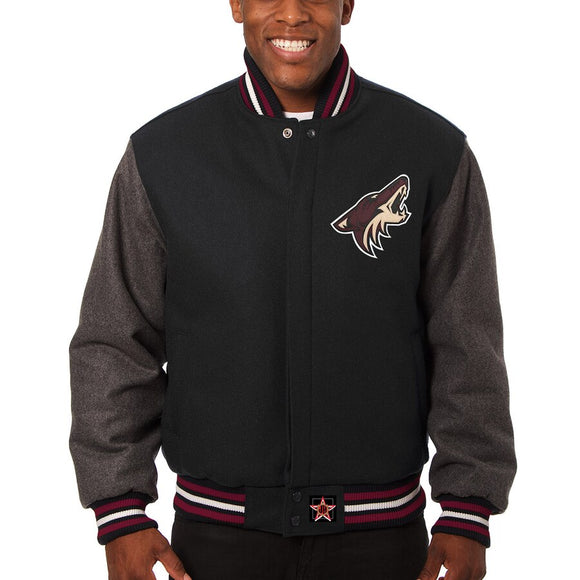 Arizona Coyotes Two-Tone All Wool Jacket - Black/Gray - JH Design
