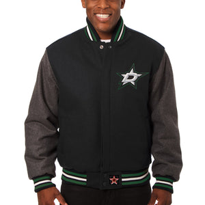 Dallas Stars Two-Tone All Wool Jacket - Black/Gray - JH Design