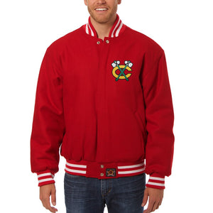 Chicago Blackhawks All Wool Jacket - Red - JH Design