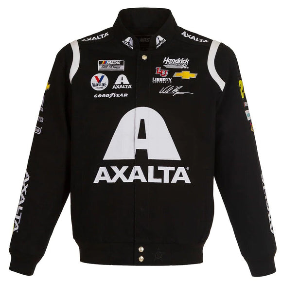 2021 William Byron JH Design Black Axalta Twill Uniform Full-Snap Jacket - JH Design