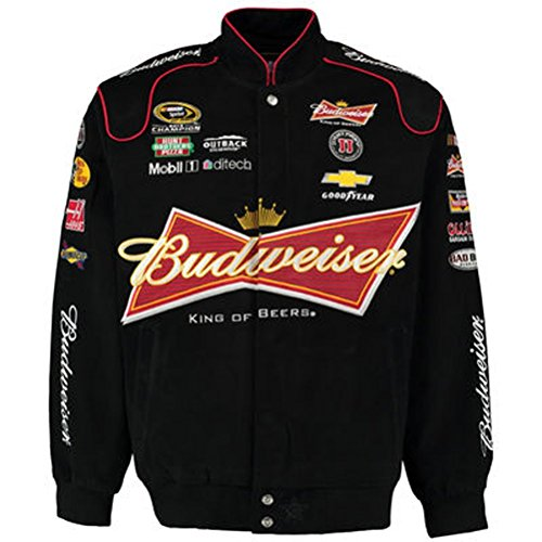 Kevin Harvick Budweiser Twill Jacket - Black - JH Design