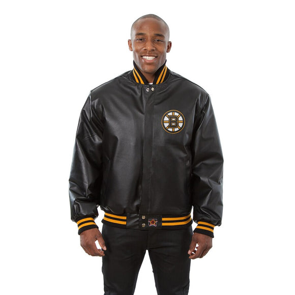 Boston Bruins Full Leather Jacket - Black - JH Design