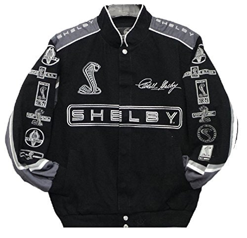 Carroll Shelby Cobra Twill Jacket  - Black - JH Design