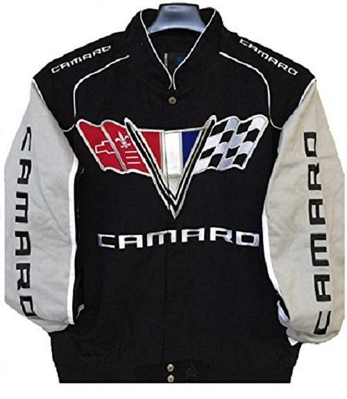 Camaro Racing Twill Jacket - Black/Grey
