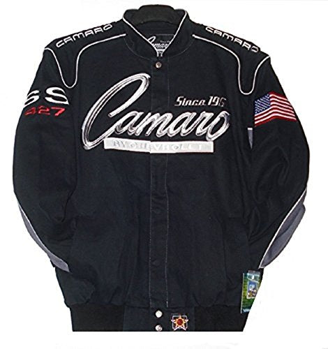 Camaro Racing Twill Jacket - Black