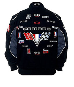 Camaro Racing Twill Jacket - Black - JH Design
