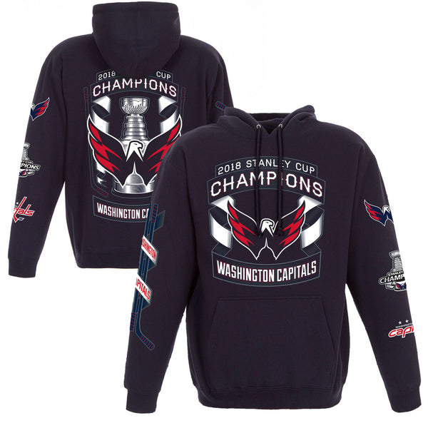 Washington Capitals JH Design 2018 Stanley Cup Champions Pullover Hoodie – Navy