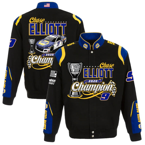 Chase Elliott JH Design 2020 NASCAR Cup Series Champion Twill Jacket - JH Design