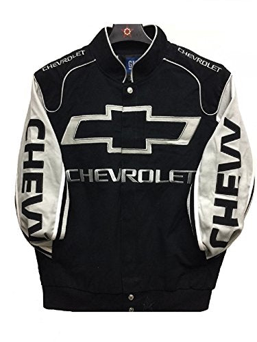Chevrolet Racing Cotton Jacket - Black/Grey - J.H. Sports Jackets