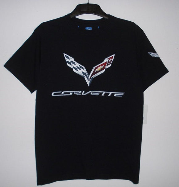 Corvette C7 T-Shirt - Black - JH Design