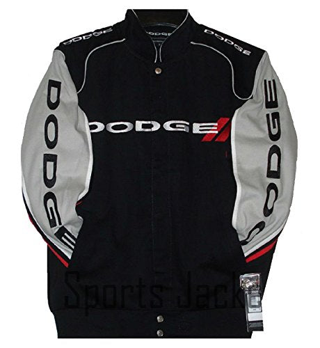 Dodge Racing Twill Jacket - Black/Grey - JH Design